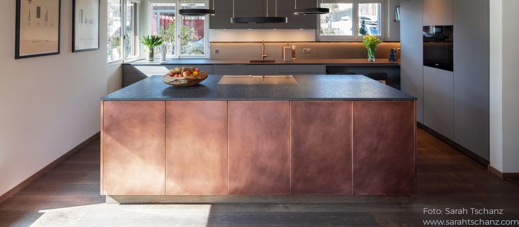 Küche Front- Kupfer- Hauptbild