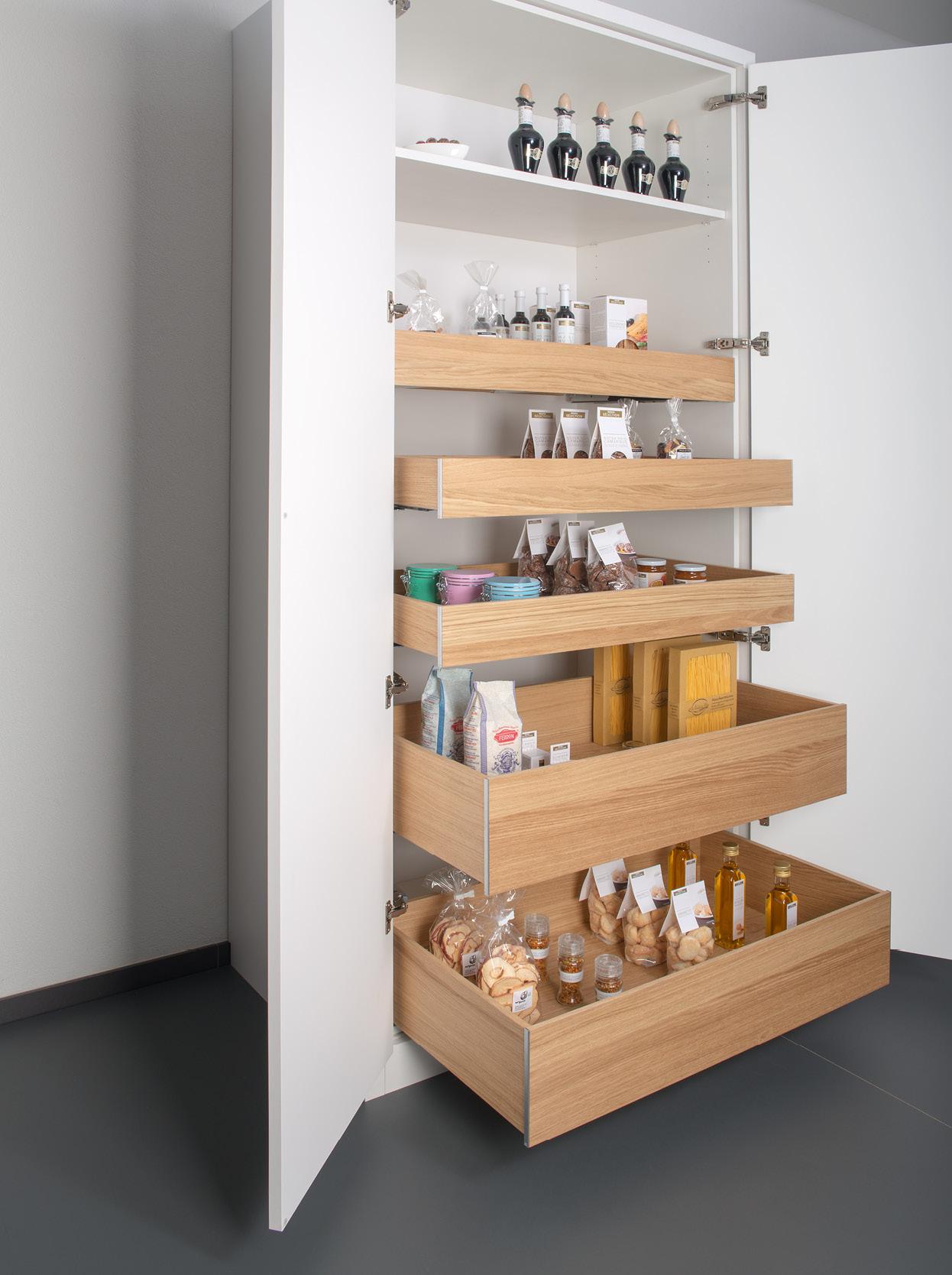 Vorratsauszug Holzbox Eiche