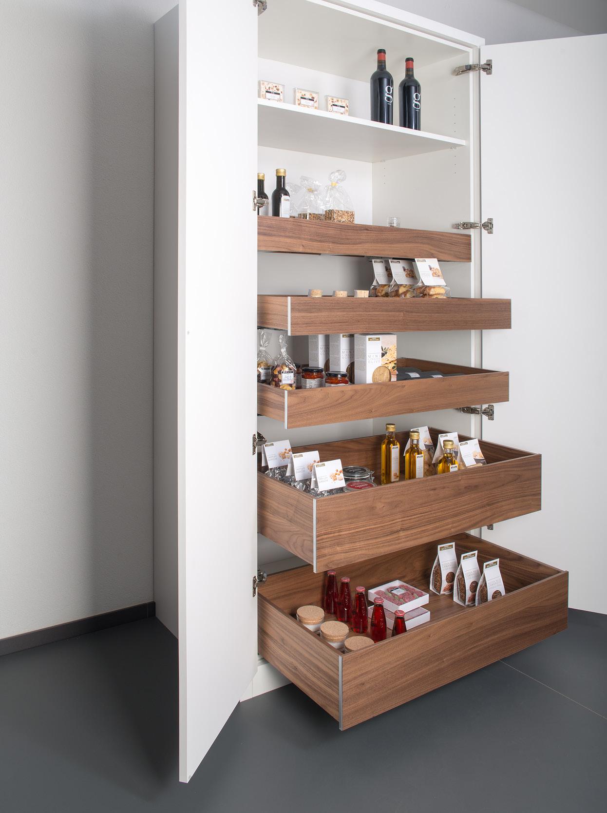 Vorratsauszug Holzbox Nuss